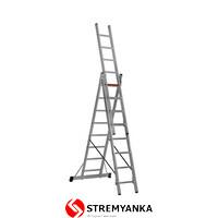 Фото - Трехсекционная алюминиевая лестница VIRASTAR Triomax Pro 3x8 ступеней